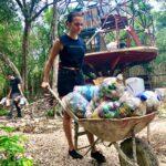 Primera construcción en Tulum hecha con plástico del mar