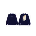 In Loyalty We Trust Long Sleeve Navy Blue Front and Back