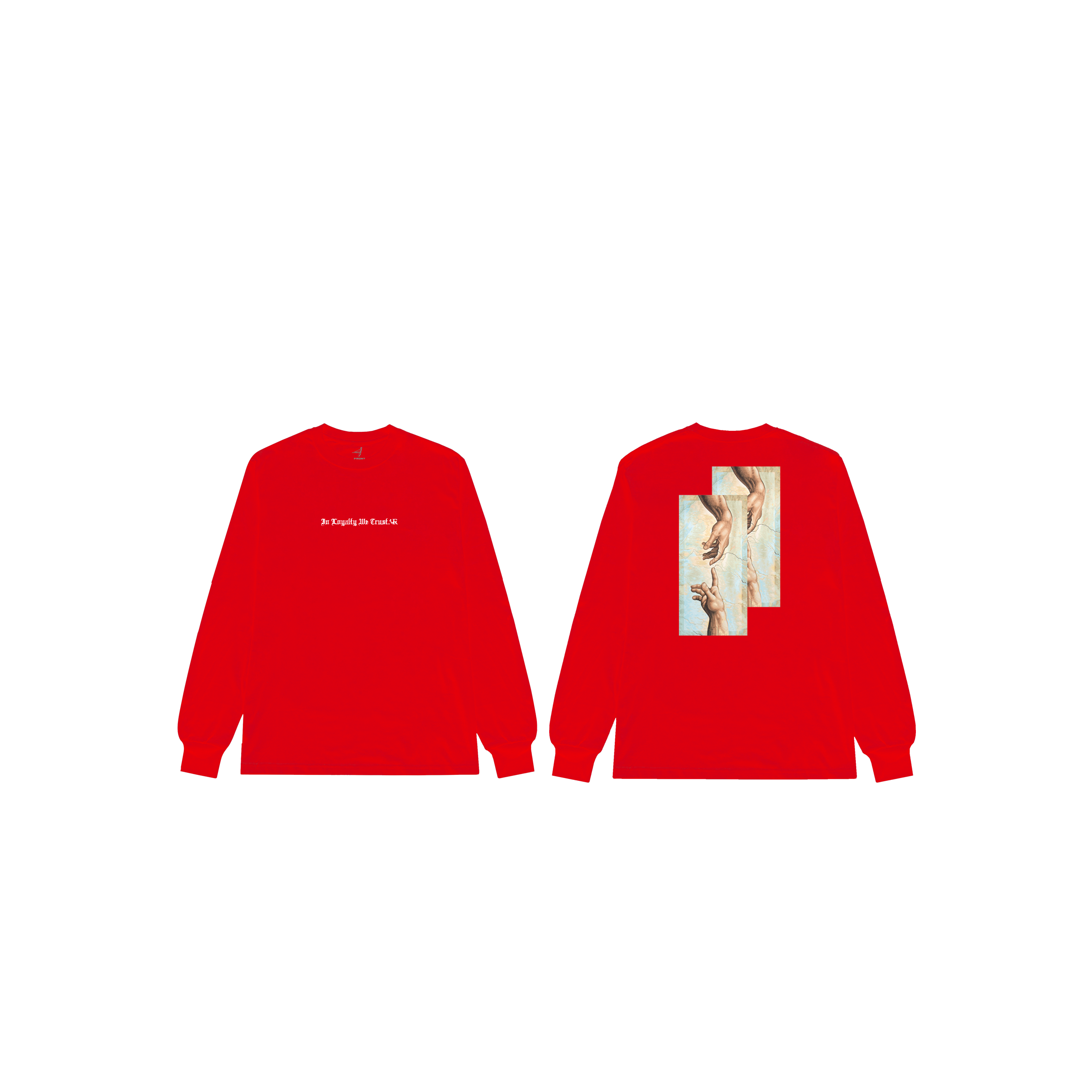In Loyalty We Trust Long Sleeve Red Front and Back