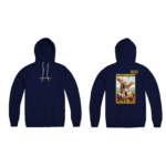 Prey or Pray Hoodie Navy Front and Back