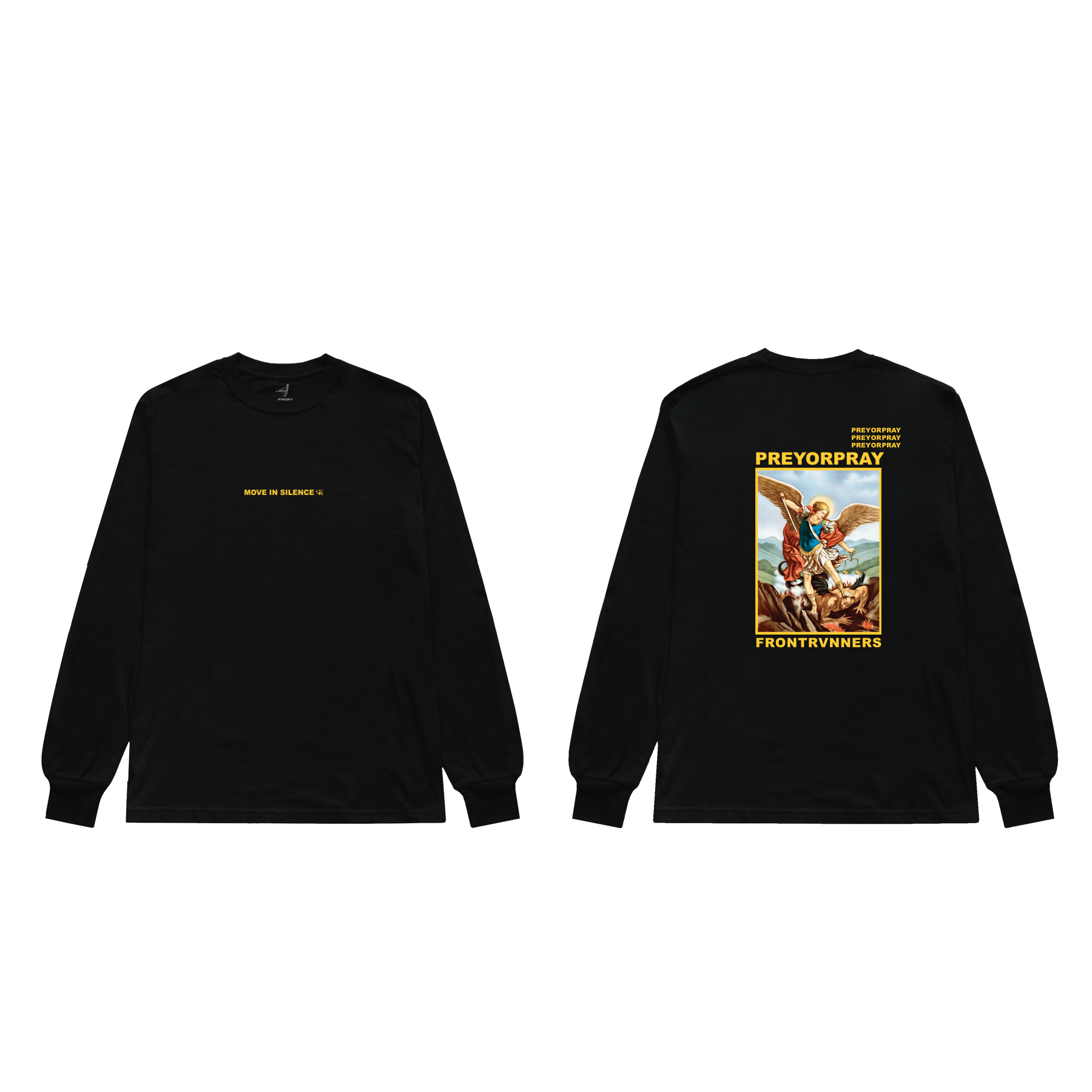 Prey or Pray L/S Black Front and Back