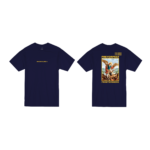 Prey or Pray T Shirt Navy Front and Back