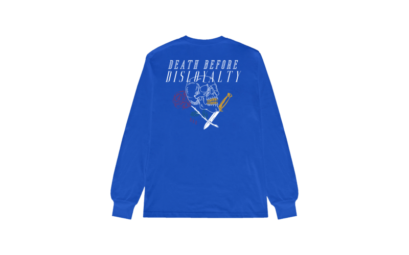 Death Before Disloyalty Blue Back LS