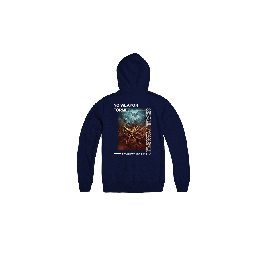 No Weapon Formed Shall Prosper Navy Back Hoodie