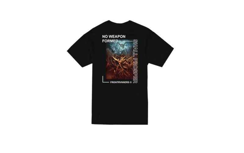 No Weapon Formed Shall Prosper Black Back Short Sleeve Sleeve