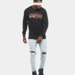 Rvnners Red Long Sleeve Black Full Body