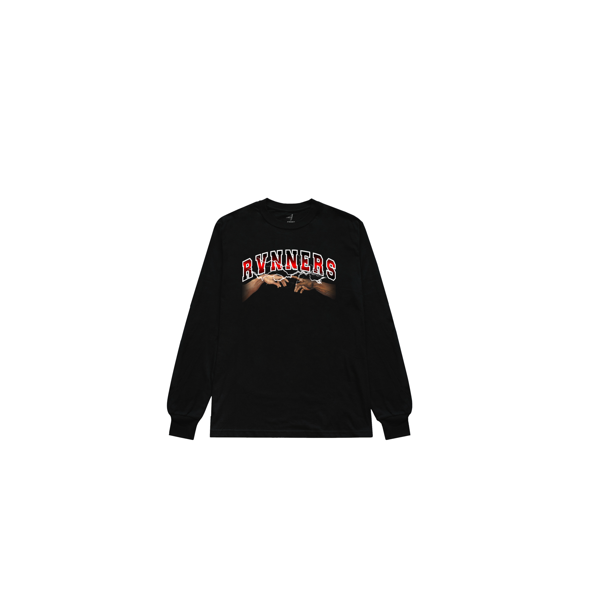 Rvnners Red Black L/S Front