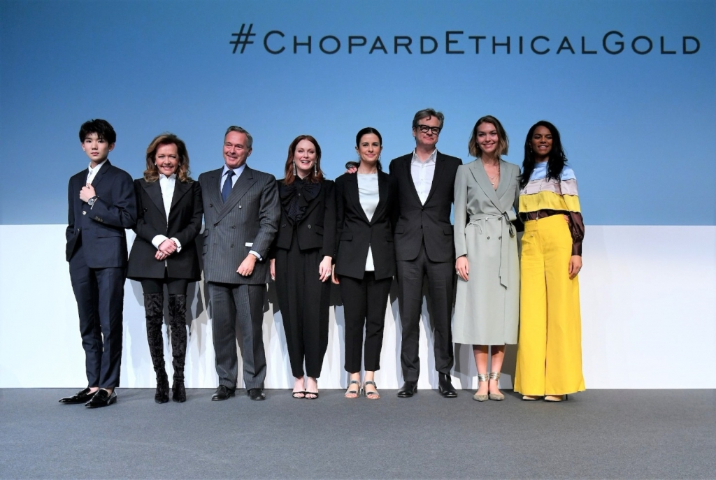 Chopard officials and celebrity ambassadors were present in Baselworld this week for the brand's big announcement: All of its gold will be sustainable by July 2018.