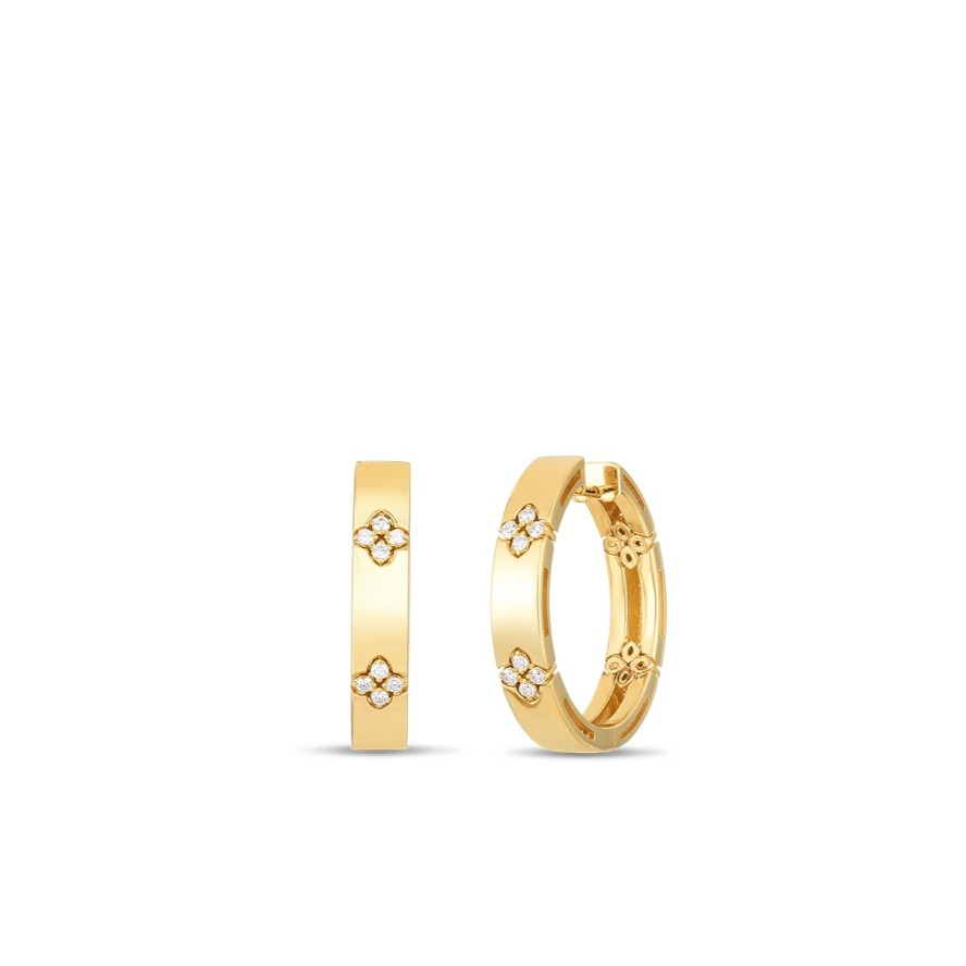 Love in Verona earrings in 18k yellow gold with 0.012 diamonds, $3,300; available online at Saks