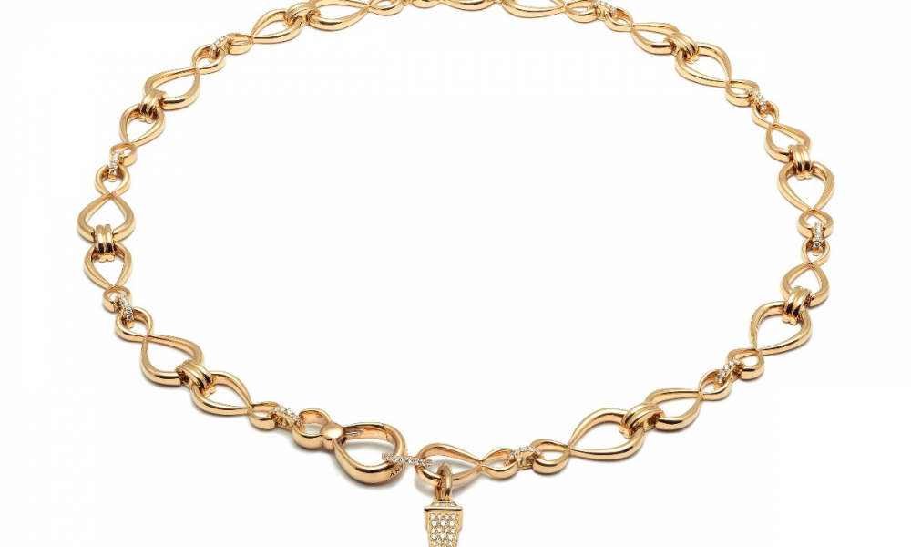 Anniversary 100 necklace in 18k gold, $23,410; email tatiana.tonizzo@antonini.it for purchase