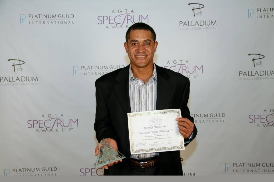 Darryl Alexander with one of his many awards.