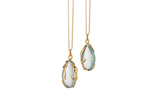 Intuition Octopus necklace in 18k yellow gold with 28.85 cts. t.w. aquamarine and 0.17 cts. t.w. diamonds, $5,750; available online at Monica Rich Kosann