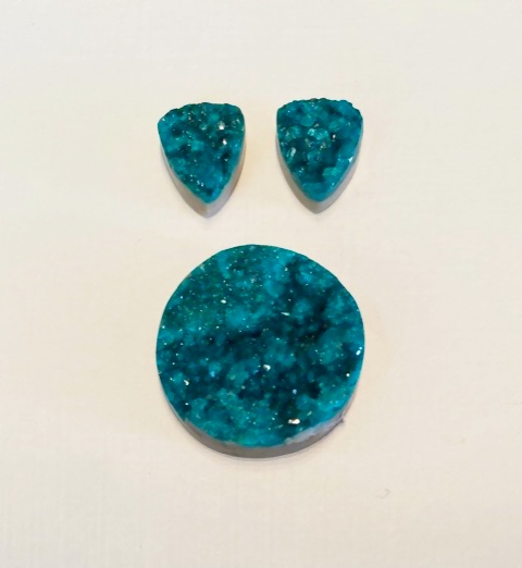 Dioptase drusy from Kazahkstan, $640; email penrocks@sonic.net for purchase