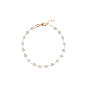 Newport bracelet in 14k yellow gold with faceted milky aquamarine, $465; available online at Haverhill Leach