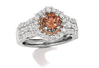 Le Vian ring in platinum with chocolate diamonds