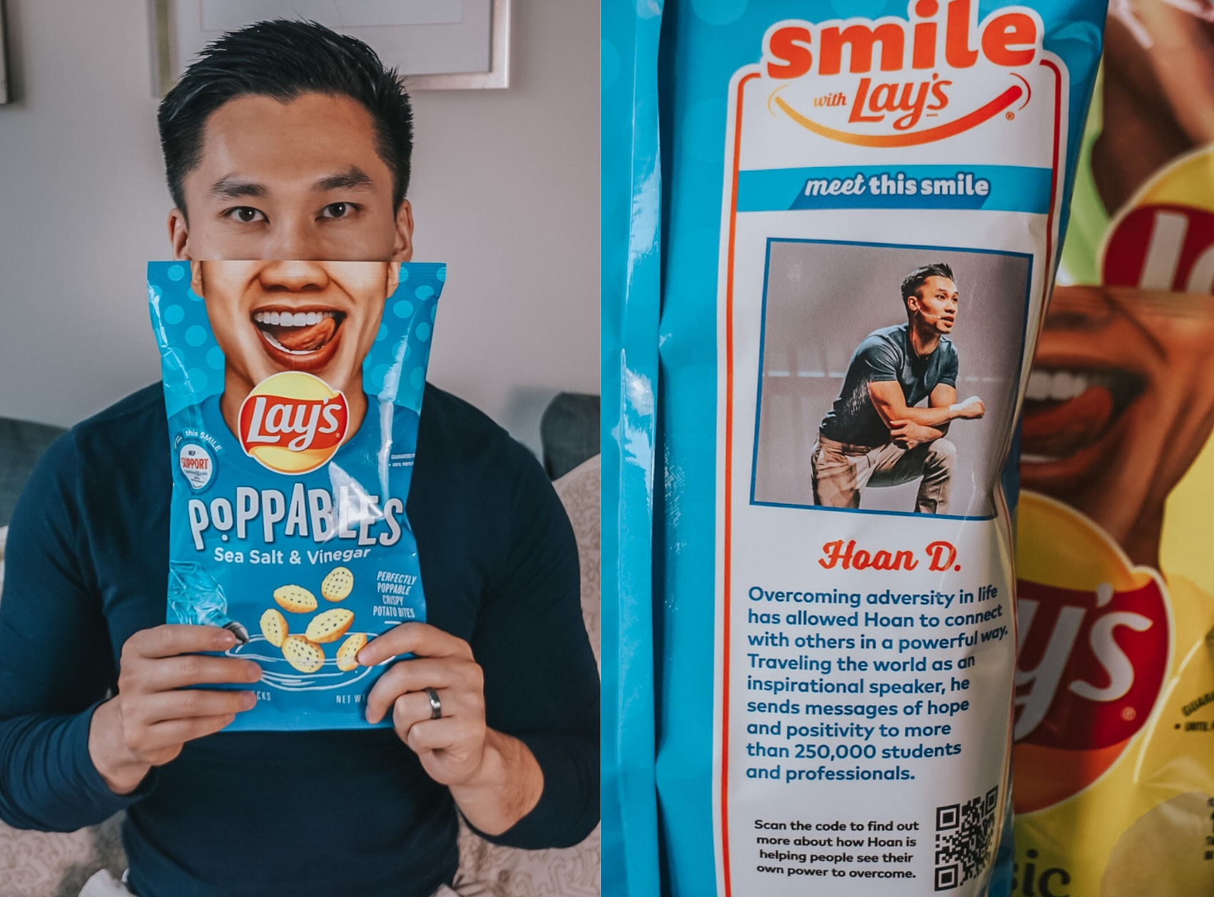 American Ninja Warrior and College Motivational Speaker Hoan Do on Lays Bag