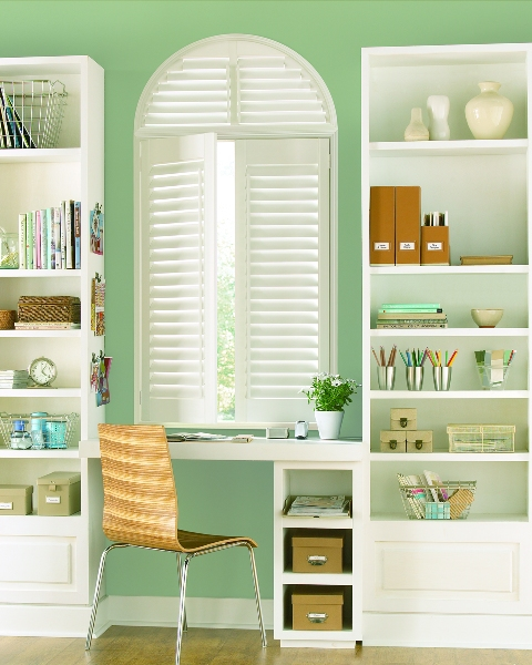 Call Blind Magic for top quality Hunter Douglas Palm Beach Polysatin Shutters in North Highlands, CA
