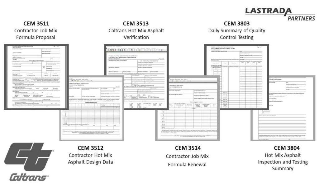 LATRADA Partners Caltrans Forms for Materials Laboratories
