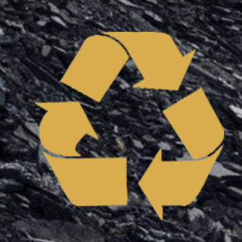 Recycle Symbol for Recycled Asphalt Pavement or RAP