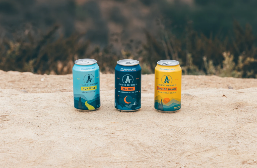 Athletic Brewing Co. alcohol-free craft beers.