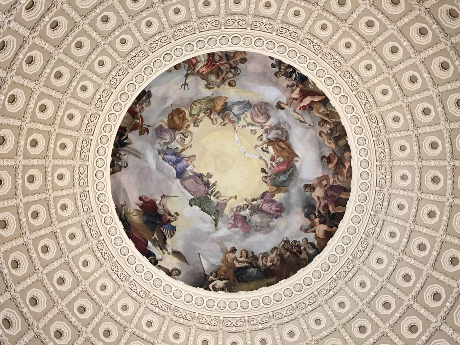 United States Capitol Building rotunda ceiling painting
