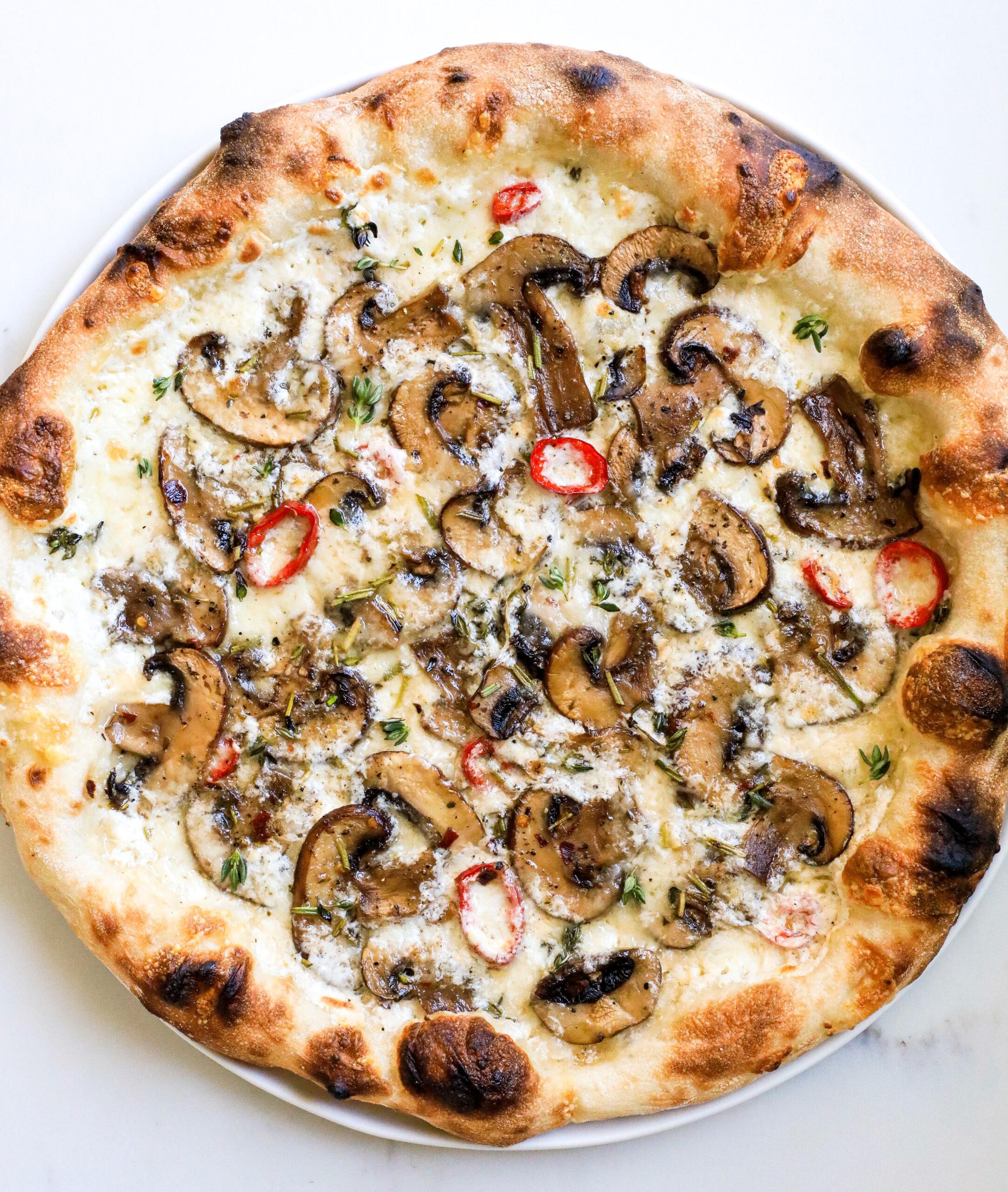 Herby Mushroom Pizza