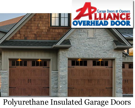 Polyurethane Insulated Faux Wood Modern garage Door