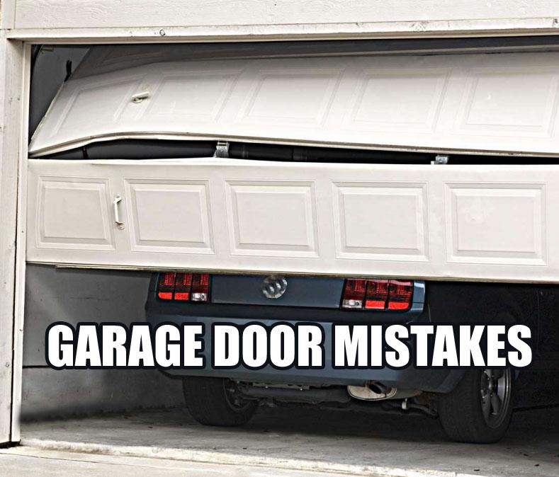 Repair Garage Door Mistakes