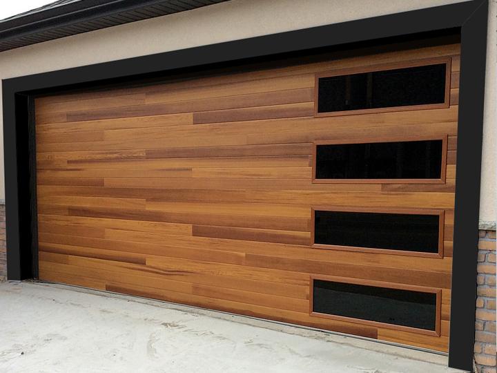 Modern Wood Garage Door Round RockTexas