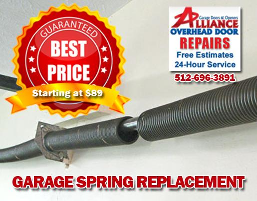Home Garage Door Spring Replacement Austin