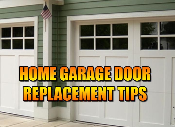 Replace Home Garage Door and Opener