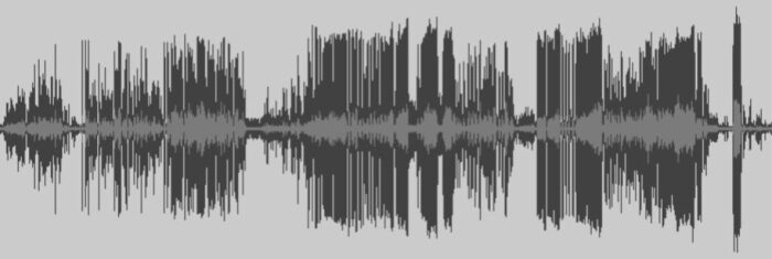 Waveform from the recording of Performing the Archive: A Remix (May 5, 2019)