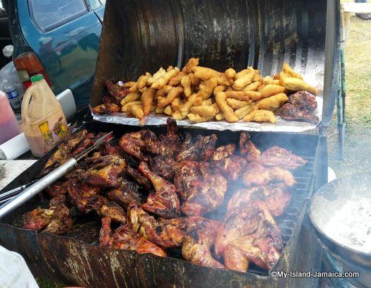 Jerk Chicken, Jamaican food