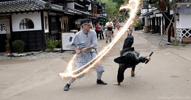Ninja training at Edo Wonderland
