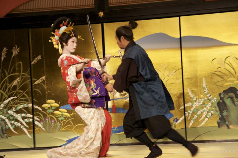 Sword fighting at Nikko Edo