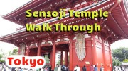 Hanging out in Sensoji Temple and having a good time