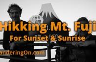 Hiking Mt. Fuji from sunset to sunrise