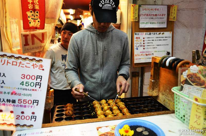 Osaka street food Takoyaki