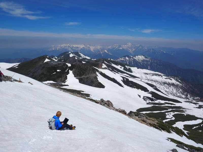 Mount Norikura in the snow