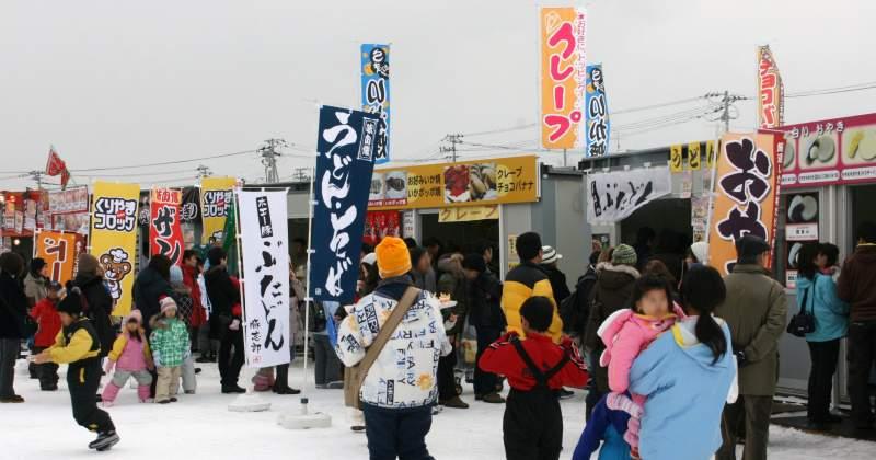 Snow Festival food stalls