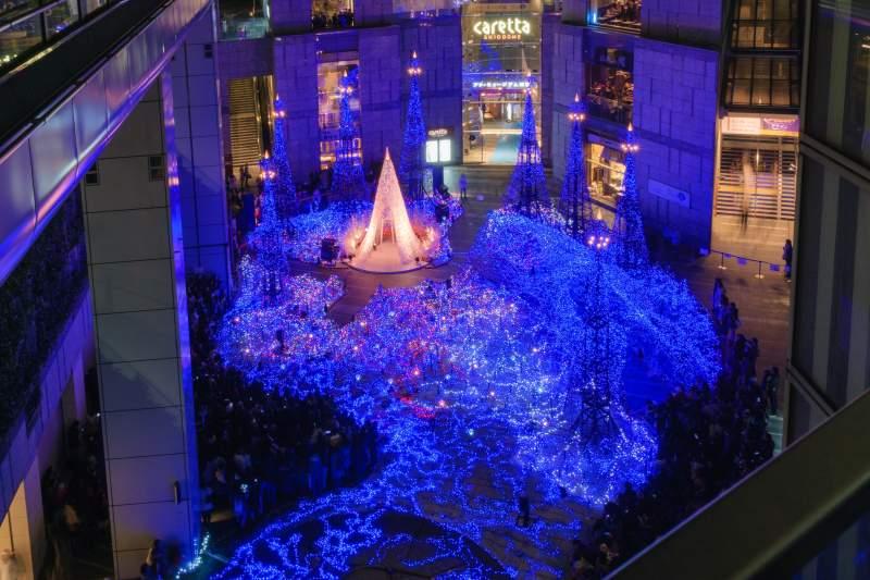 Tokyo Shiodome winter illumination