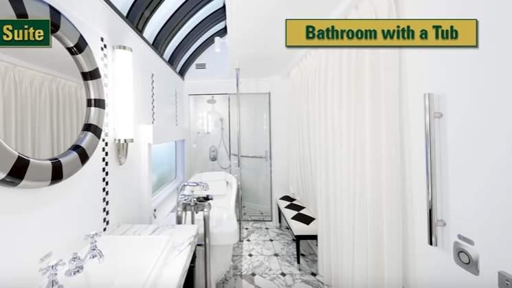 Twilight Express luxury train bathroom