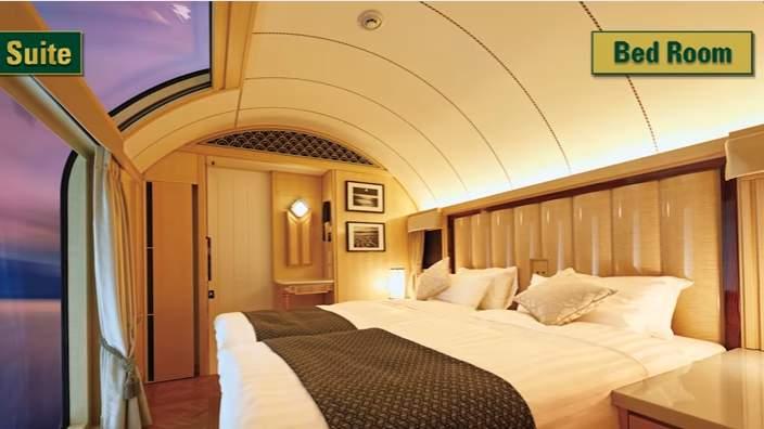 Twilight Express luxury train bedroom