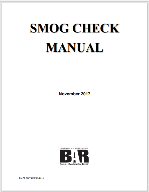2017 Smog Check Manual