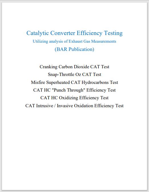 Catalytic Converter Efficiency Test