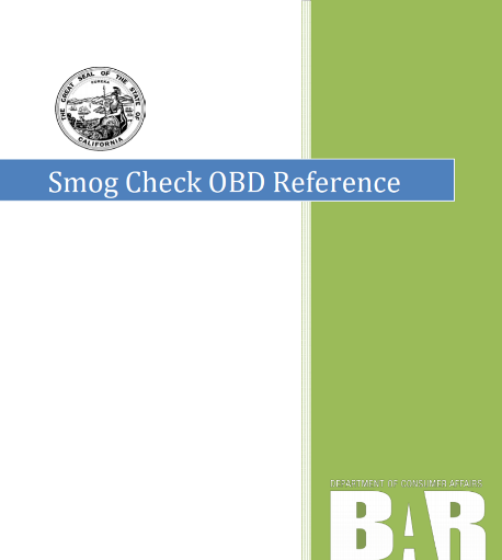 Smog Check OBD Reference