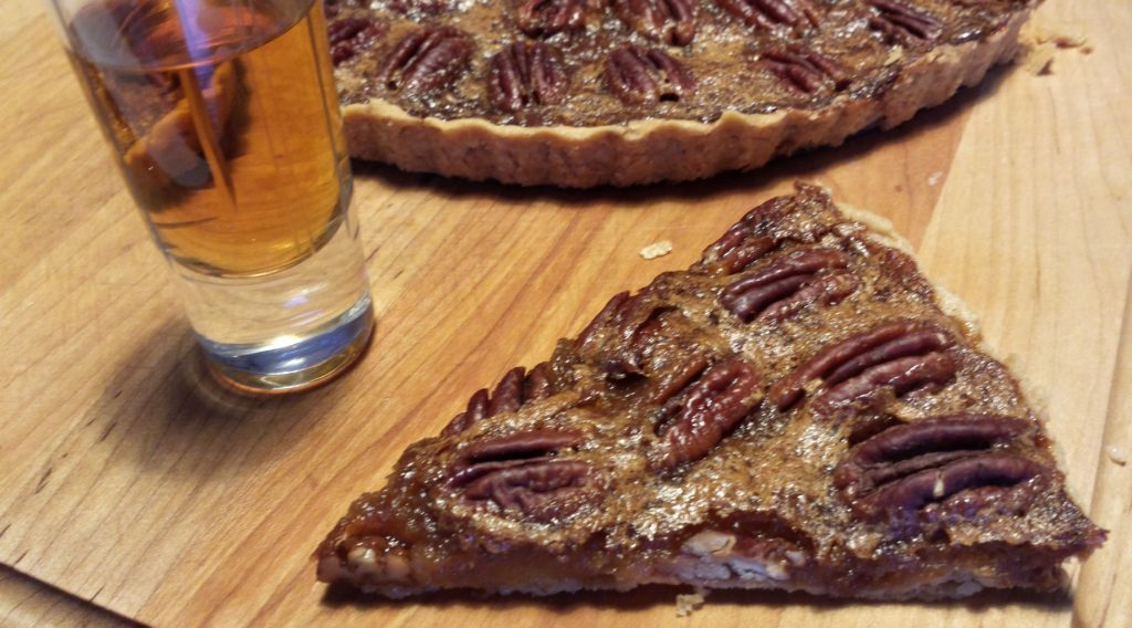 pecan tart with screech dark rum