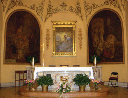 Church of Our Lady of Peace, Altar area. Photograph ©2007 Janice Carapellucci. Used with permission.