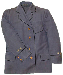 Postal carrier uniform by Penn Garment Company, in use by United States Postal Service 1906–1956. Read more information about it here. Photograph courtesy Smithsonian Institute, National Postal Museum, used with permission.