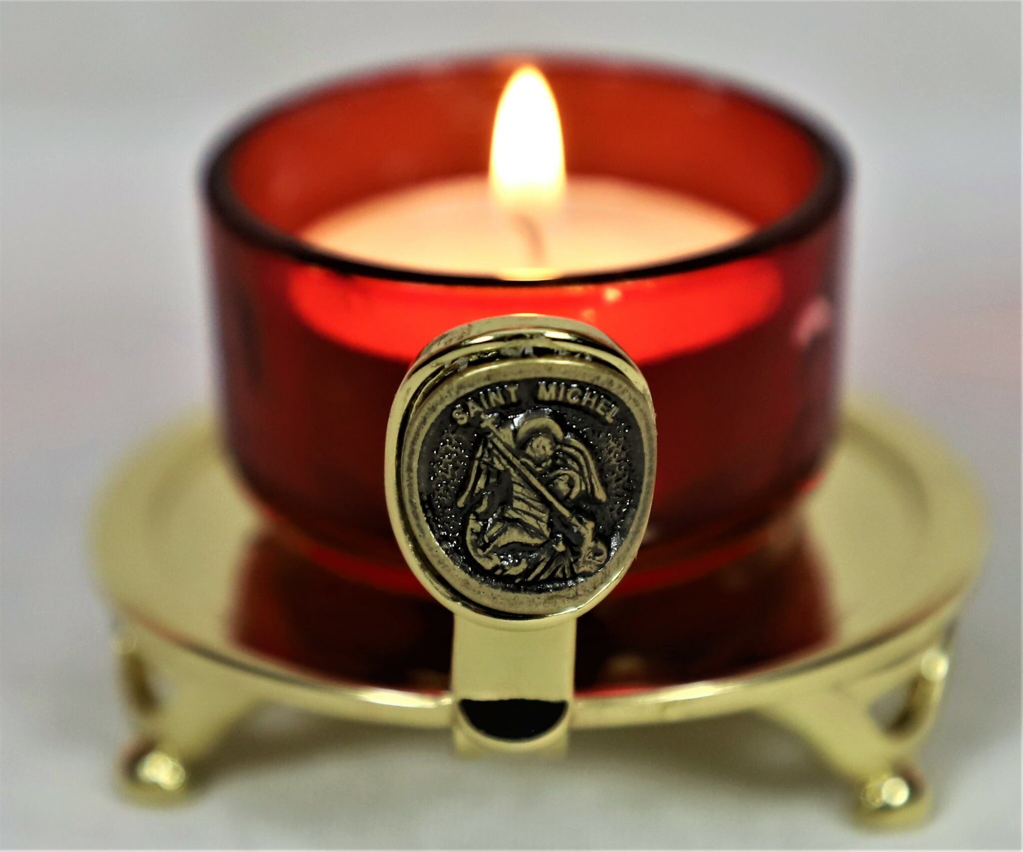 esoteric and initiatic light holder small red votive